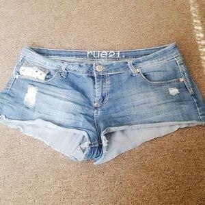 Lace short shorts